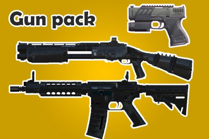 FPS And Third Person Shooter Weapon Pack
