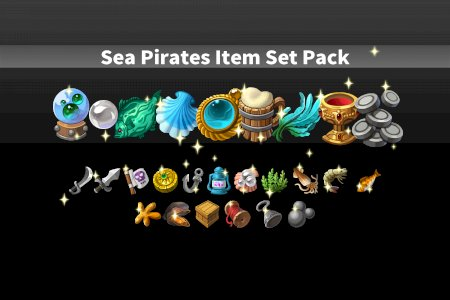 Sea Pirates Item Set Pack