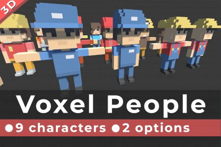 Voxel Characters - Simple People