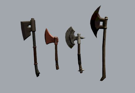 3D Low poly  Axes Collections model