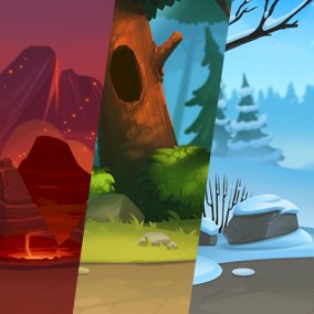 Fantasy Parallax Seamless Backgrounds