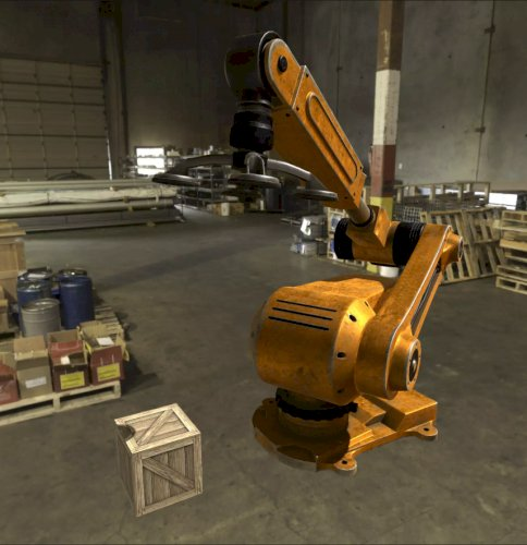 PBR Robotic Arm 3D model with functionality