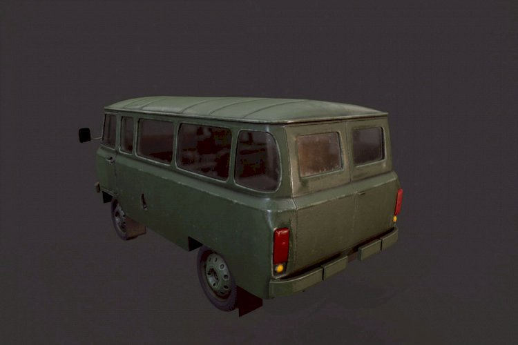 Old military UAZ 452
