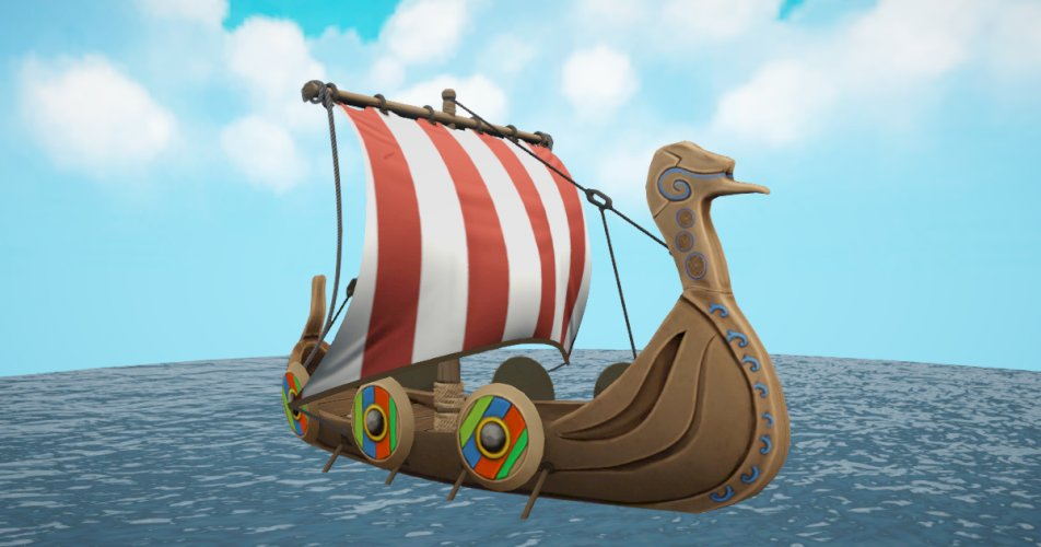 Viking Ship Stylized