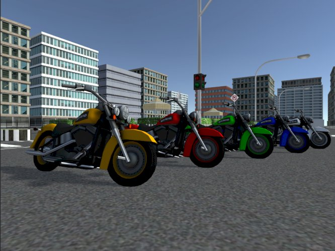 Low Poly Hot Road Bikes