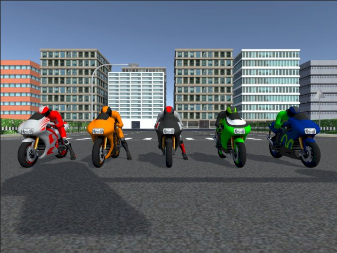 5 Low Poly Racing Bikes With Rider