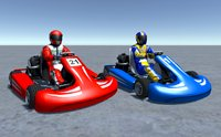 2 Low Poly Karts With Player Pack 2