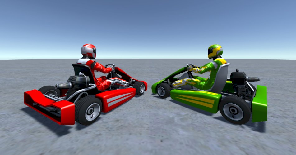 2 Low Poly Karts With Player Pack 8